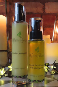 100% Pure Moringa Oil & Miracle Facial Serum with Moringa Oil