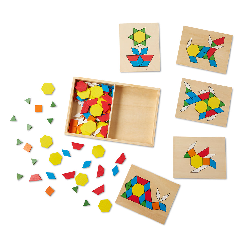 Melissa & Doug patronen en borden patterns and blocks tangram wood