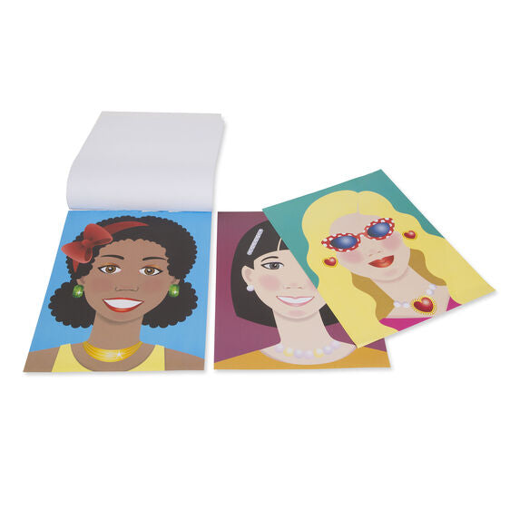 Melissa & Doug make-a-face stickerpad
