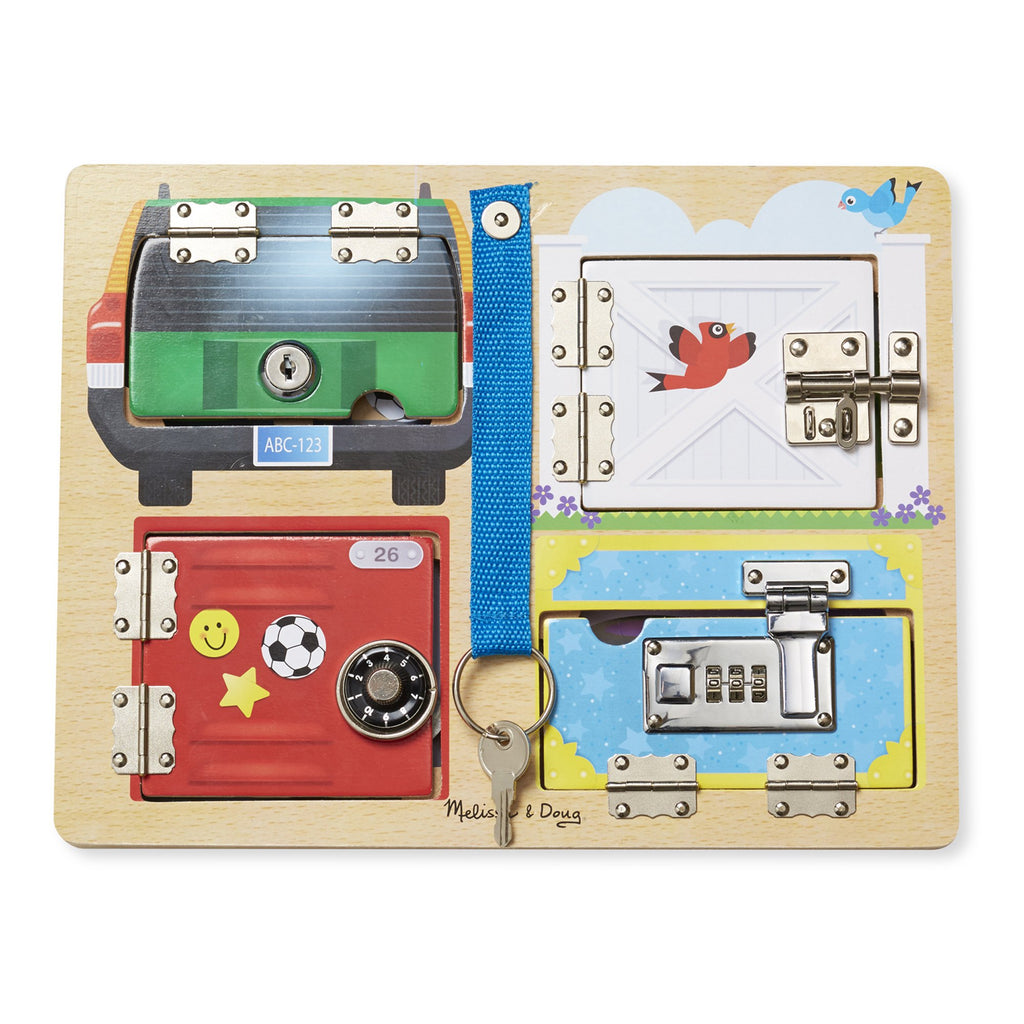 Melissa & Doug lock & latch bord