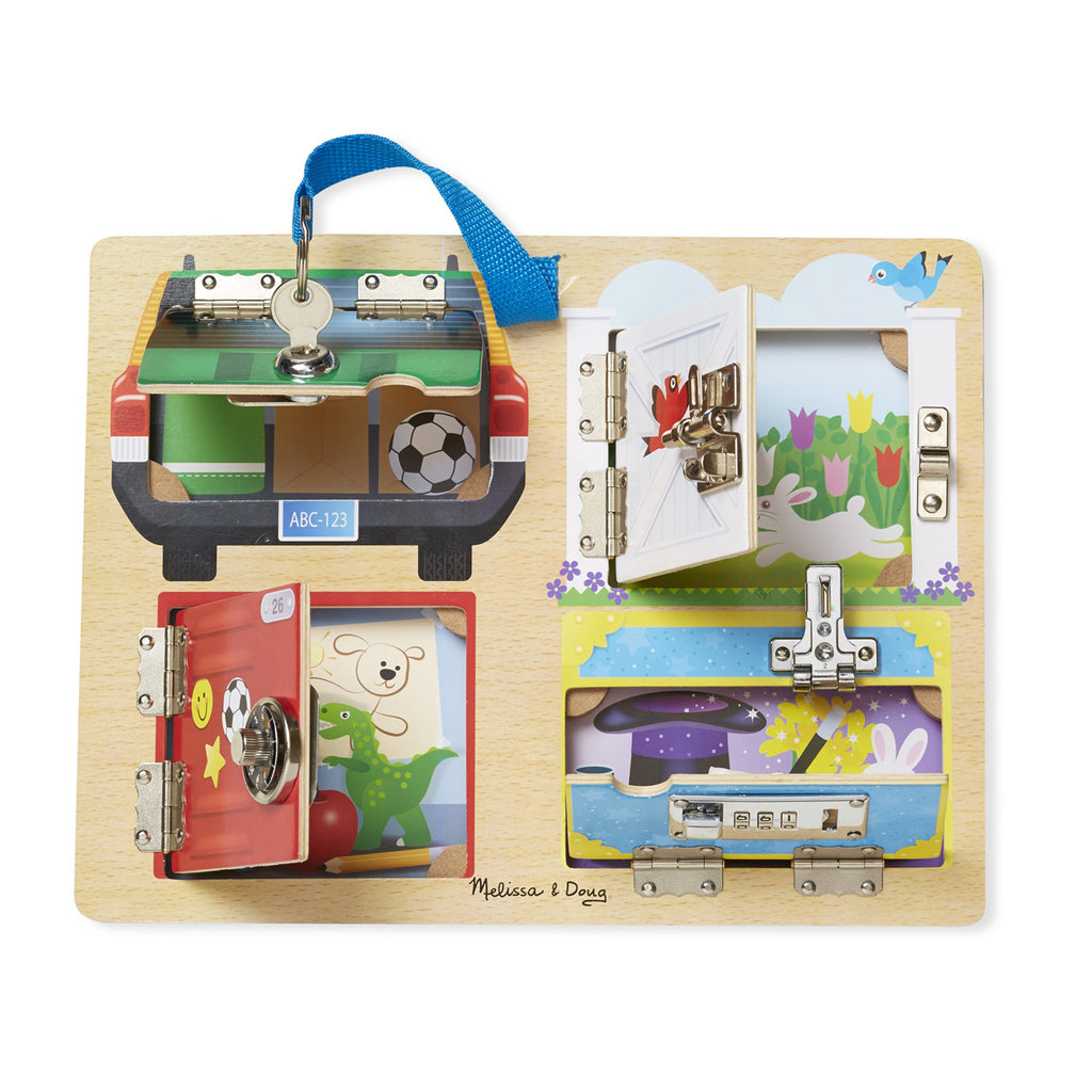 Melissa & Doug lock & latch bord sloten geopend