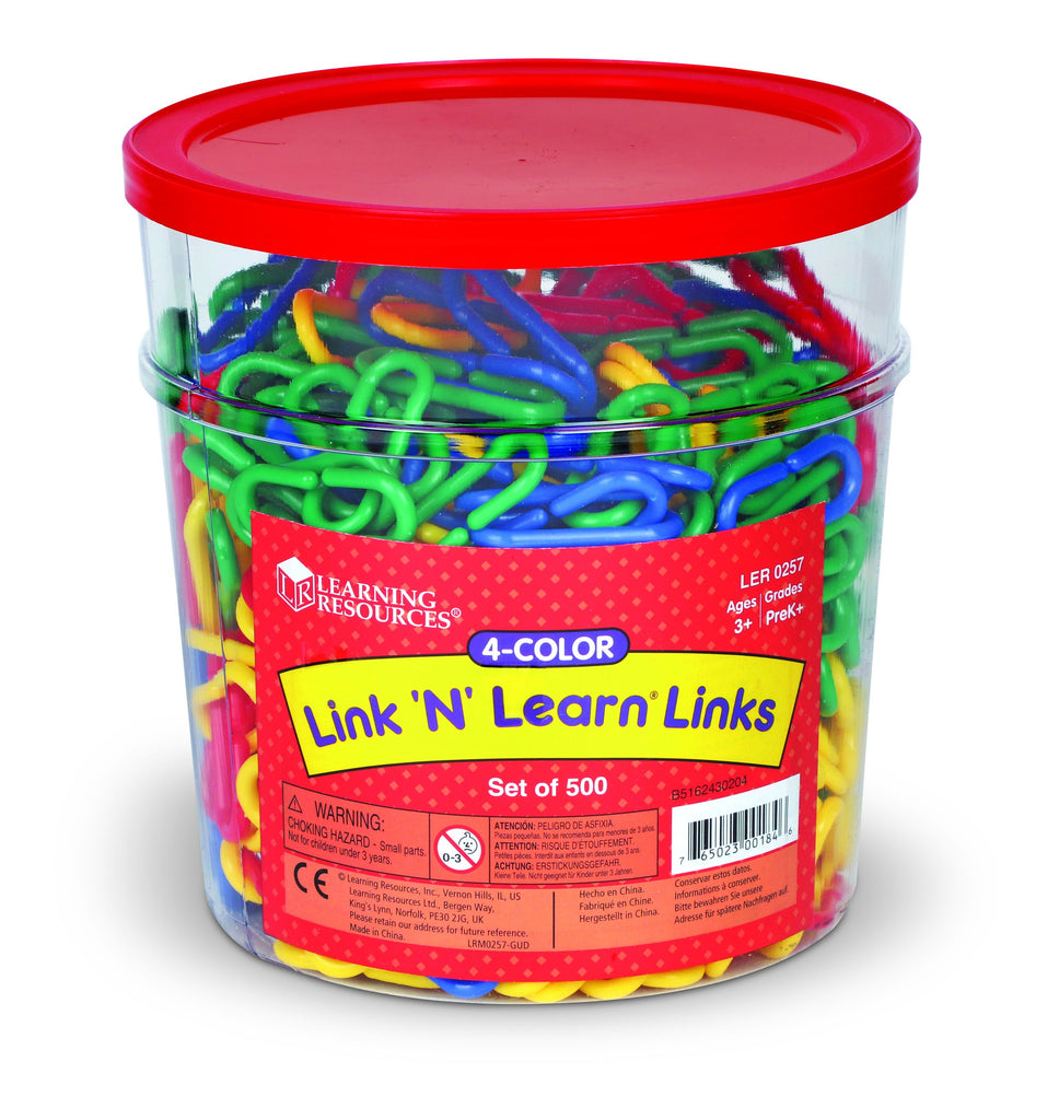 verpakking Learning Resources Link 'N' Learn links 500 stuks