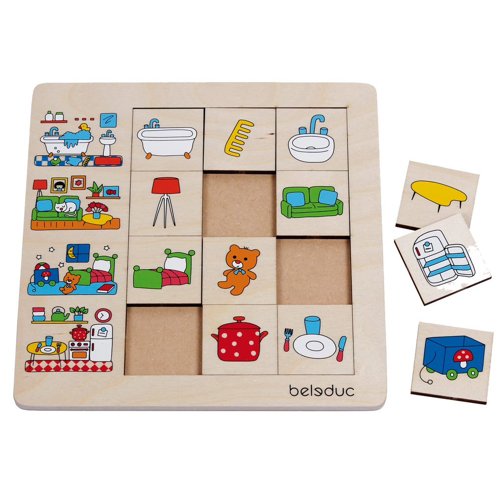 Beleduc sorteerpuzzel 'Ons huis' sorting set our home