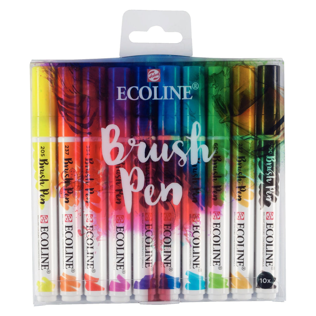 Ecoline brushpen set 10
