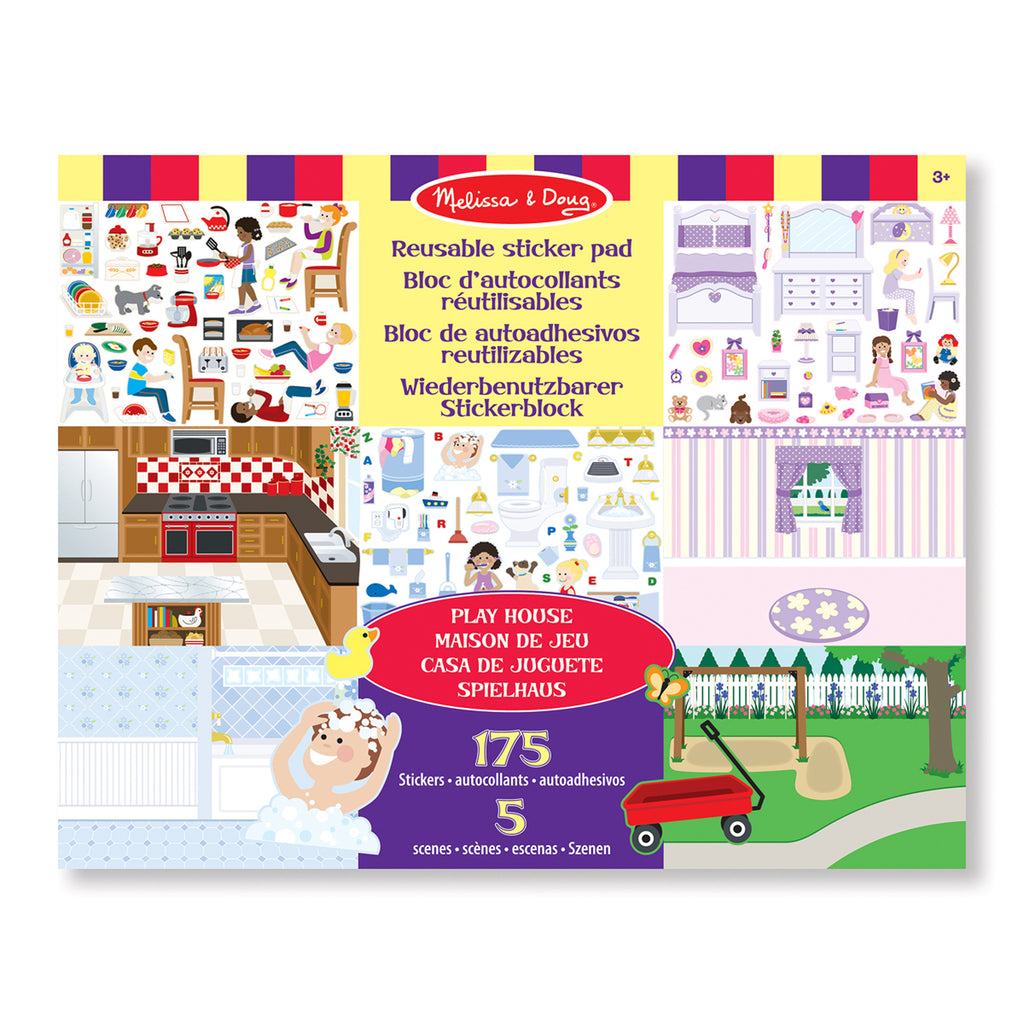 Herbruikbare stickerpad play house van melissa en doug