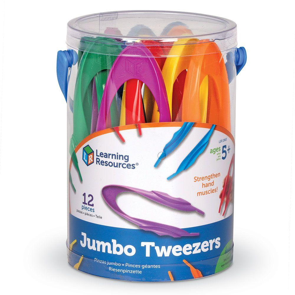 Learning Resources 12 jumbo tweezers in verpakking