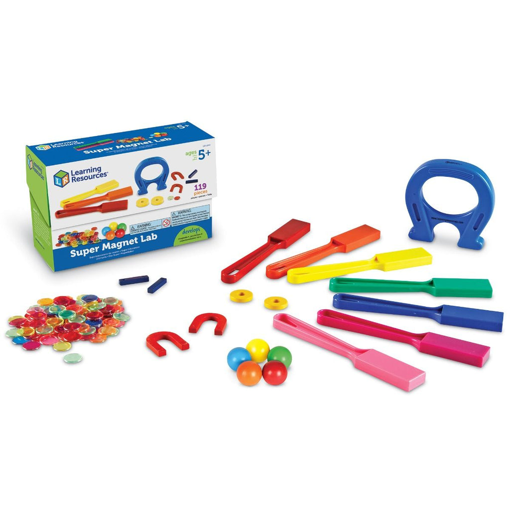 super magnet lab kit van learning resources