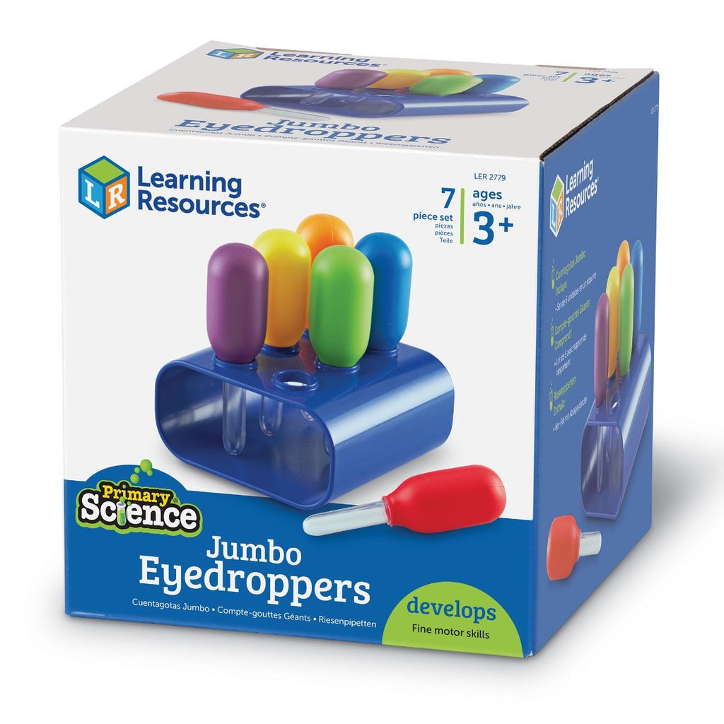 Learning Resources jumbo pipetjes - set van 6
