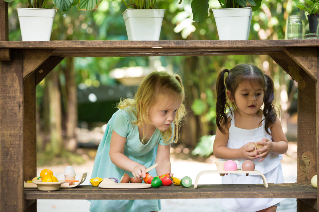 PlanToys houten fruit en groentenset speelkeuken