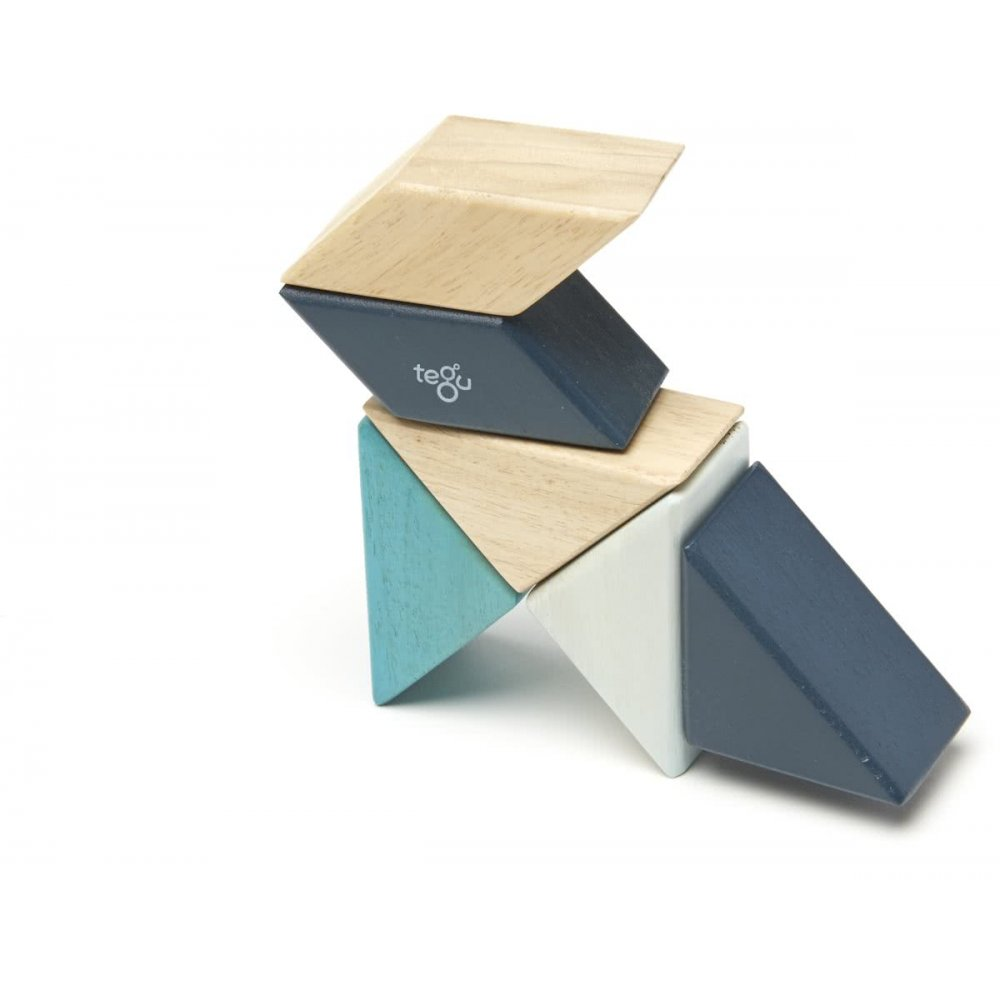 Tegu Pocket Pouch 6 piece blues magnetische blokken