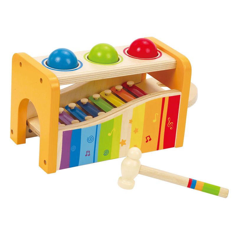 Hape pound and tap bench xylofoon