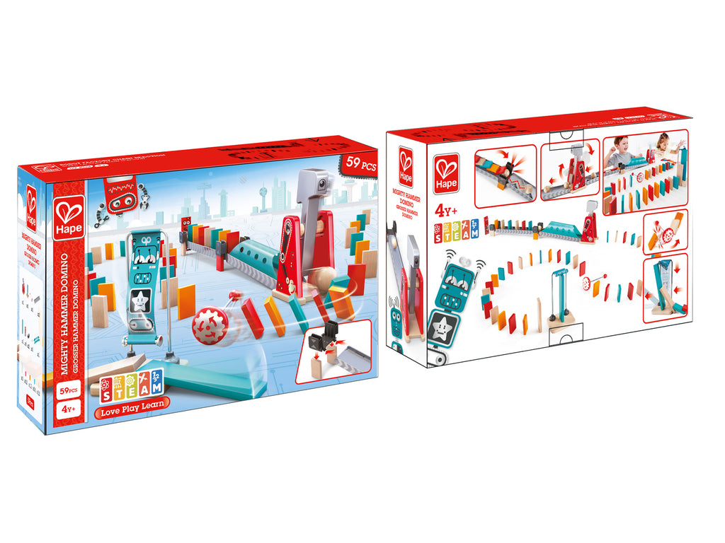 Hape Mighty Hammer Domino verpakking
