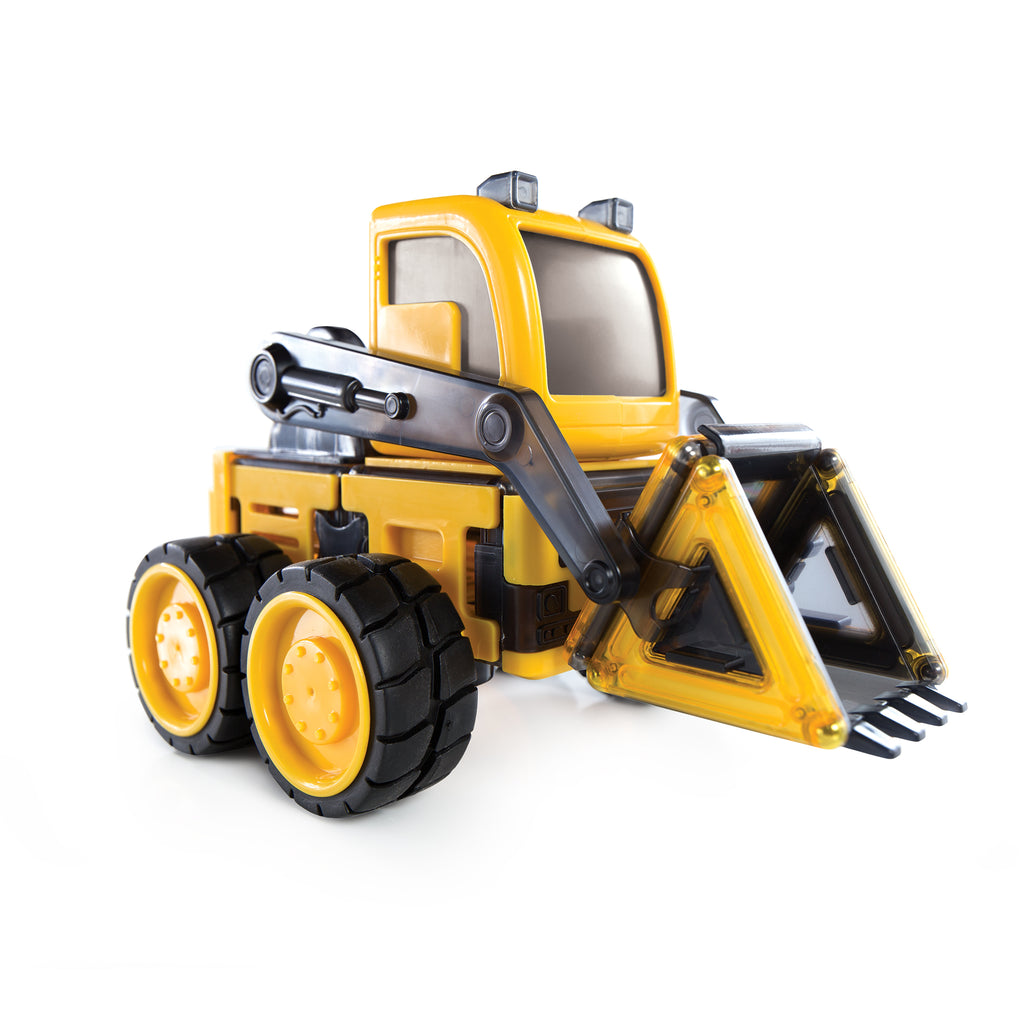 Guidecraft PowerClix construction vehicle set graafmachine