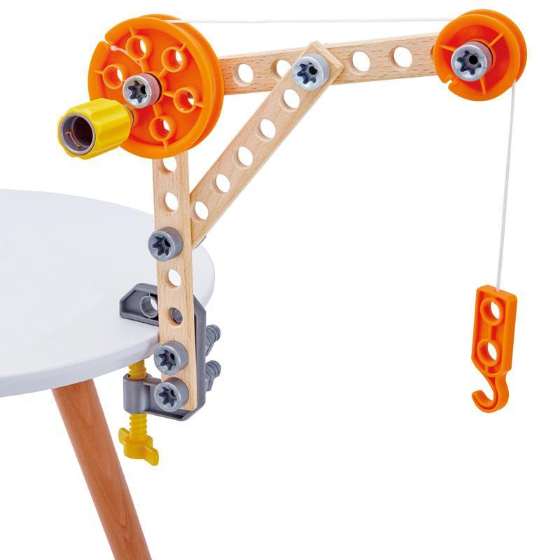 Hape three experiment kit hijskraan