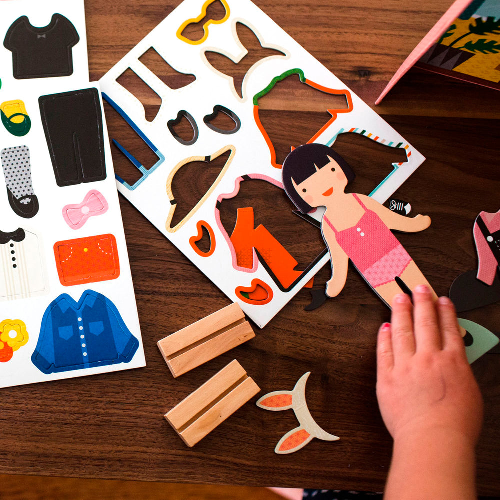 Petit Collage magnetisch spel Little Travelers magnetische figuren