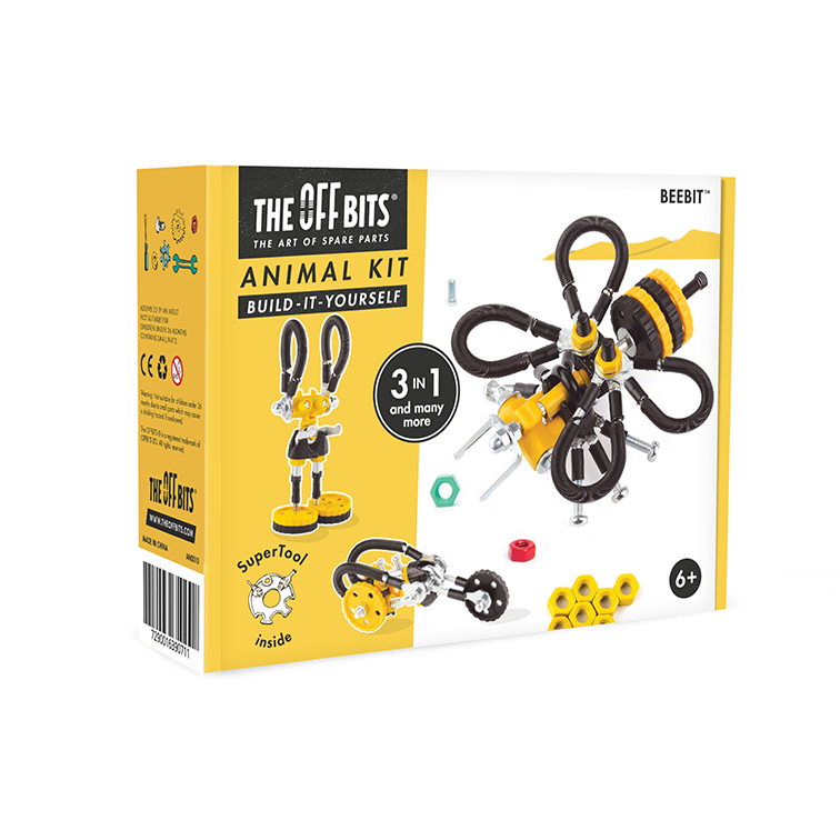 doos van Offbits Medium: Dieren Kit 3-in-1 Beebit