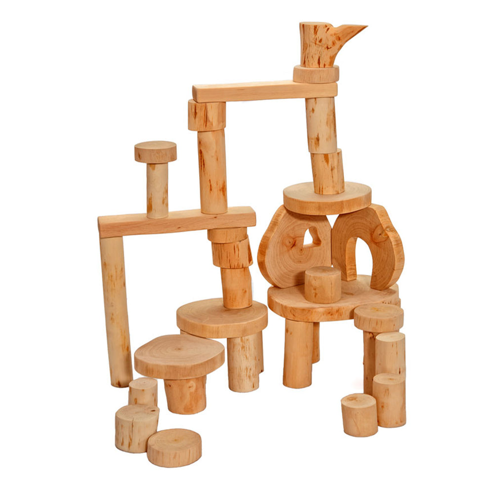 Magic Wood eco blocks zonder schors 36 stuks