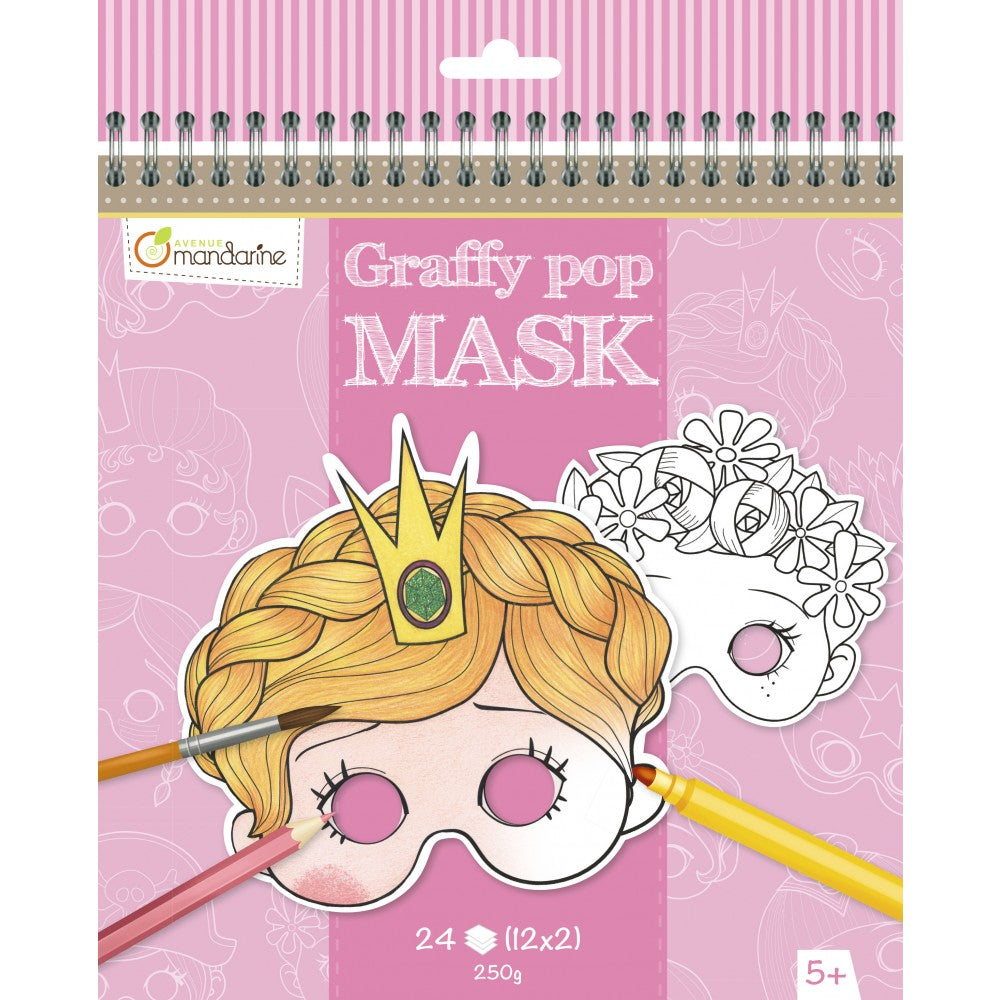Avenue Mandarine Graffy Pop Mask Meisje