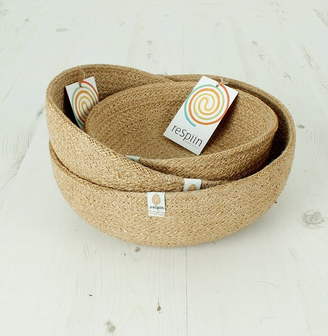 Respiin Jute mini bowl natural