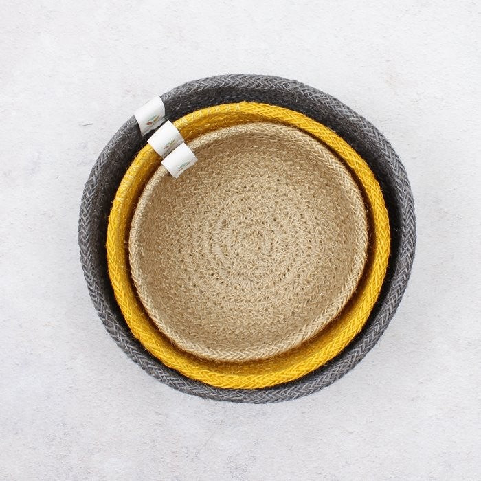 ReSpiin Jute Mini Bowl Set Beach