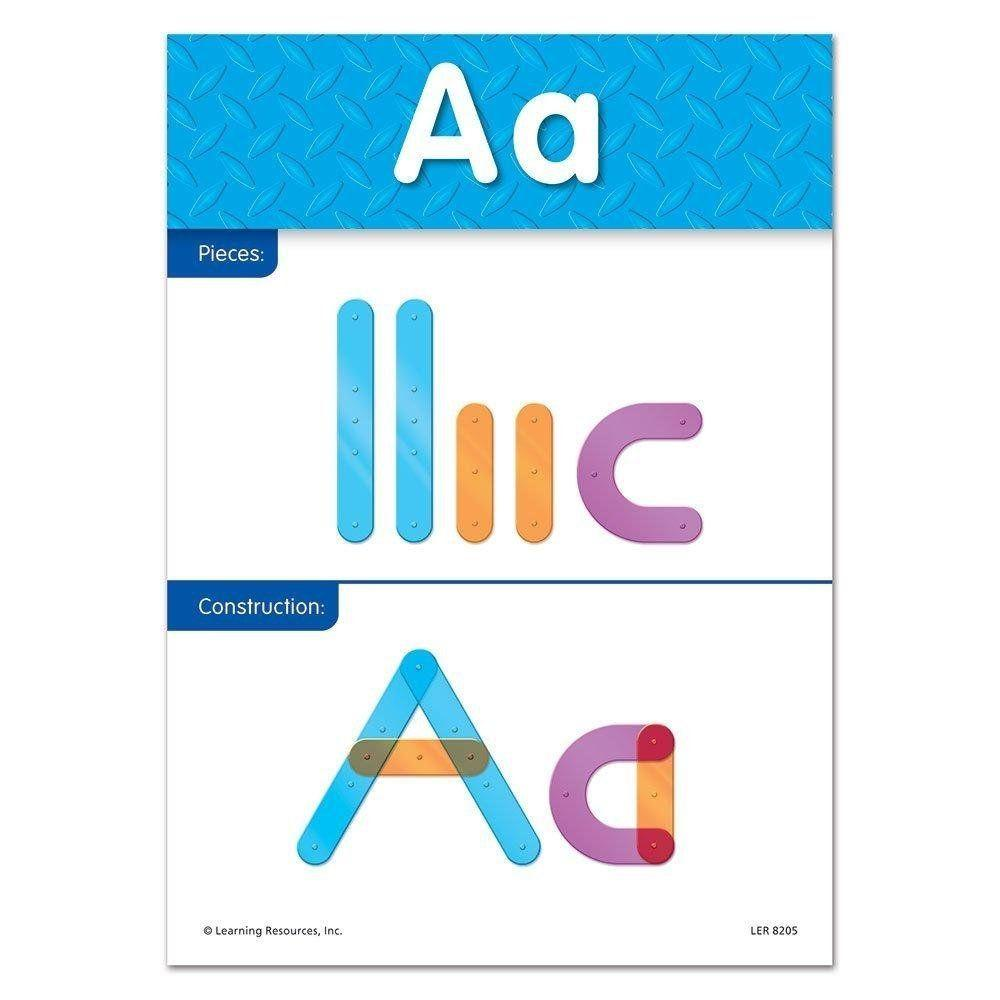 Learning Resources letter construction activiteitenkaart letter A