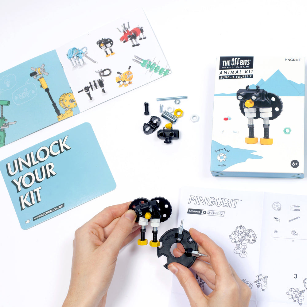 Offbits Small: Animal Kit - Pingubit onderdelen samenzetten