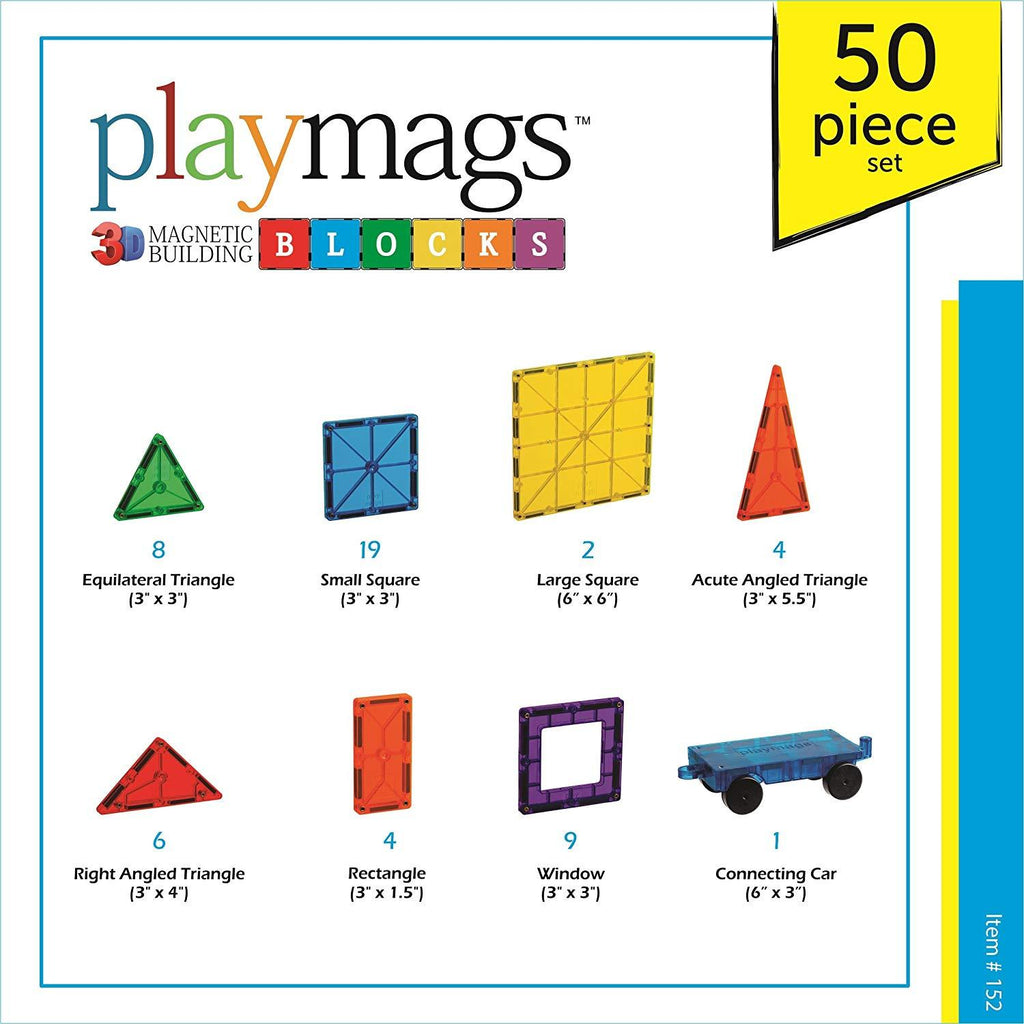inhoud Playmags 50delige set