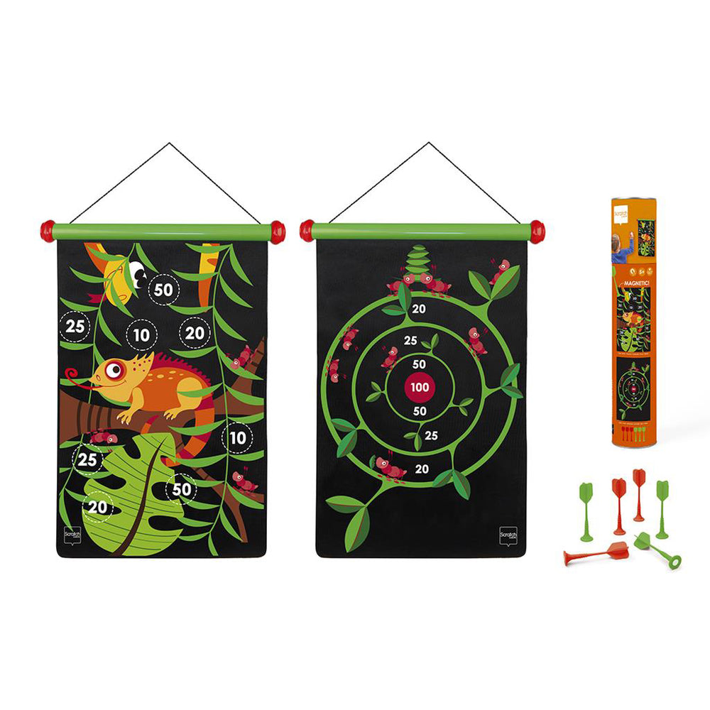 scratch magnetische darts in thema jungle