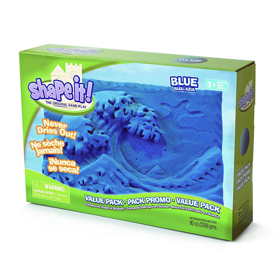 Relevant Play Shape it! 2268 gram blauwRelevant Play Shape it! 2268 gram blauw verpakking