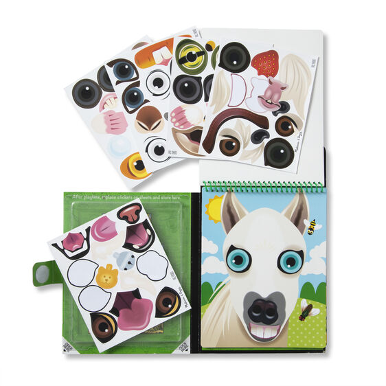 stickers van Melissa & Doug make-a-face stickerpad huisdieren