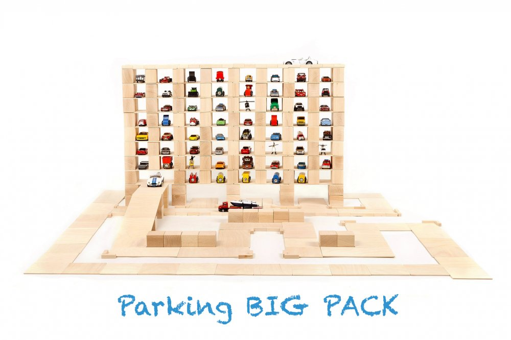 Just Blocks houten blokken big pack 336 blokken parking