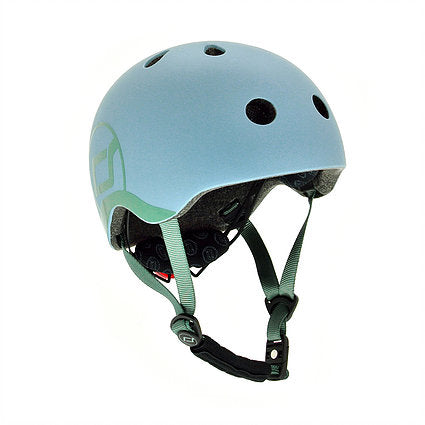 scoot and ride helm blauw steel
