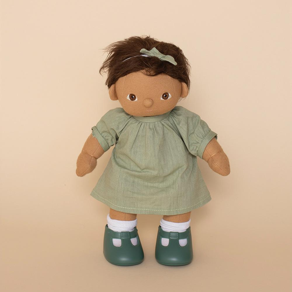 Sprout in Olli Ella Dinkum Doll travel togs mint