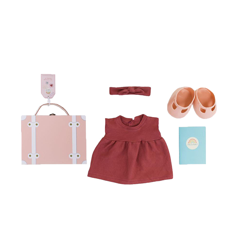 Travel Togs reiskoffer rose kleur
