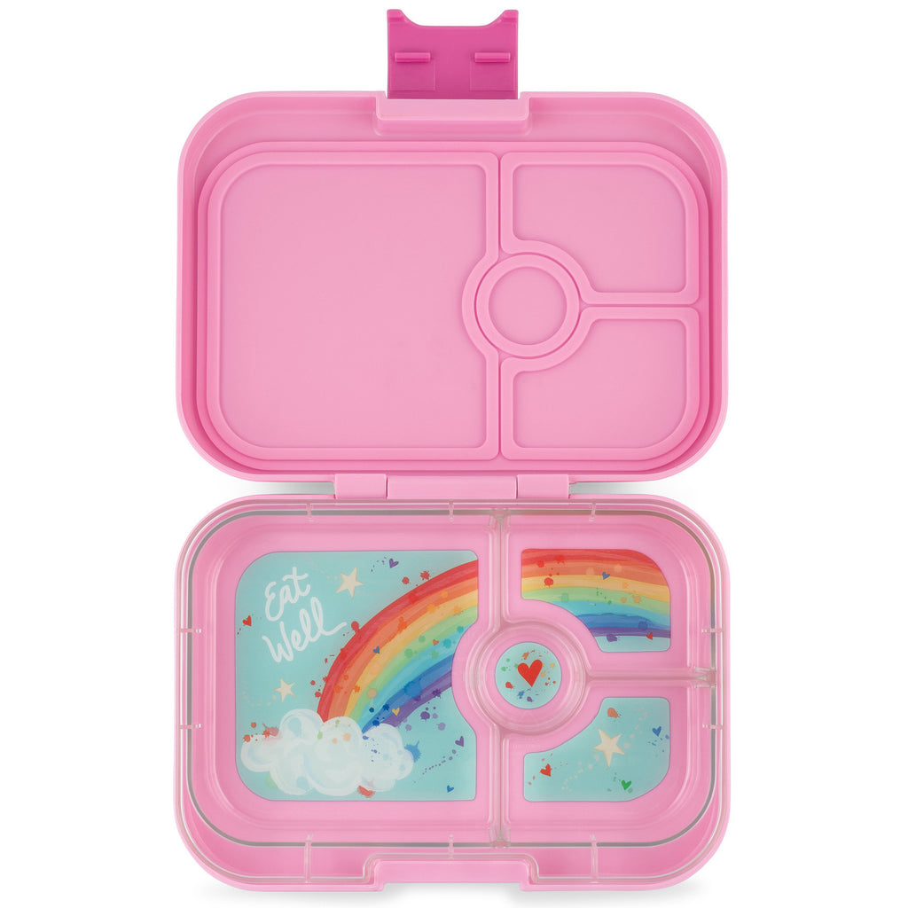 Yumbox Panino 4 vakken Power pink / Rainbow tray