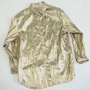 GOLD LAMÉ BLOUSE