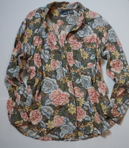 FLORAL COTTON BUTTON DOWN