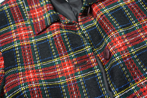 YARN PLAID JACKET