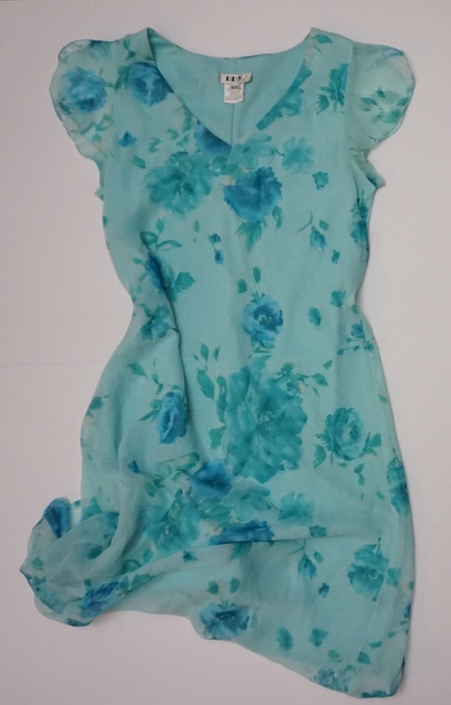 BLUE ROSE MIDI DRESS