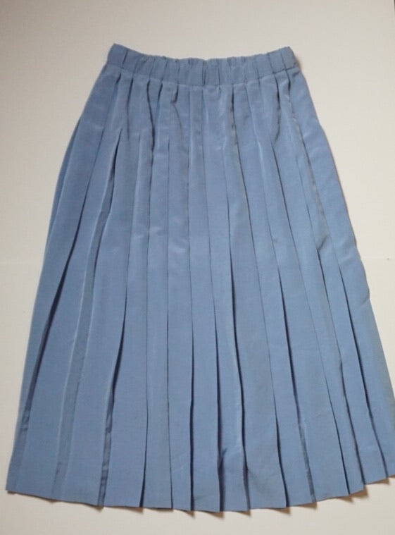 PLEATED PERIWINKLE SKIRT