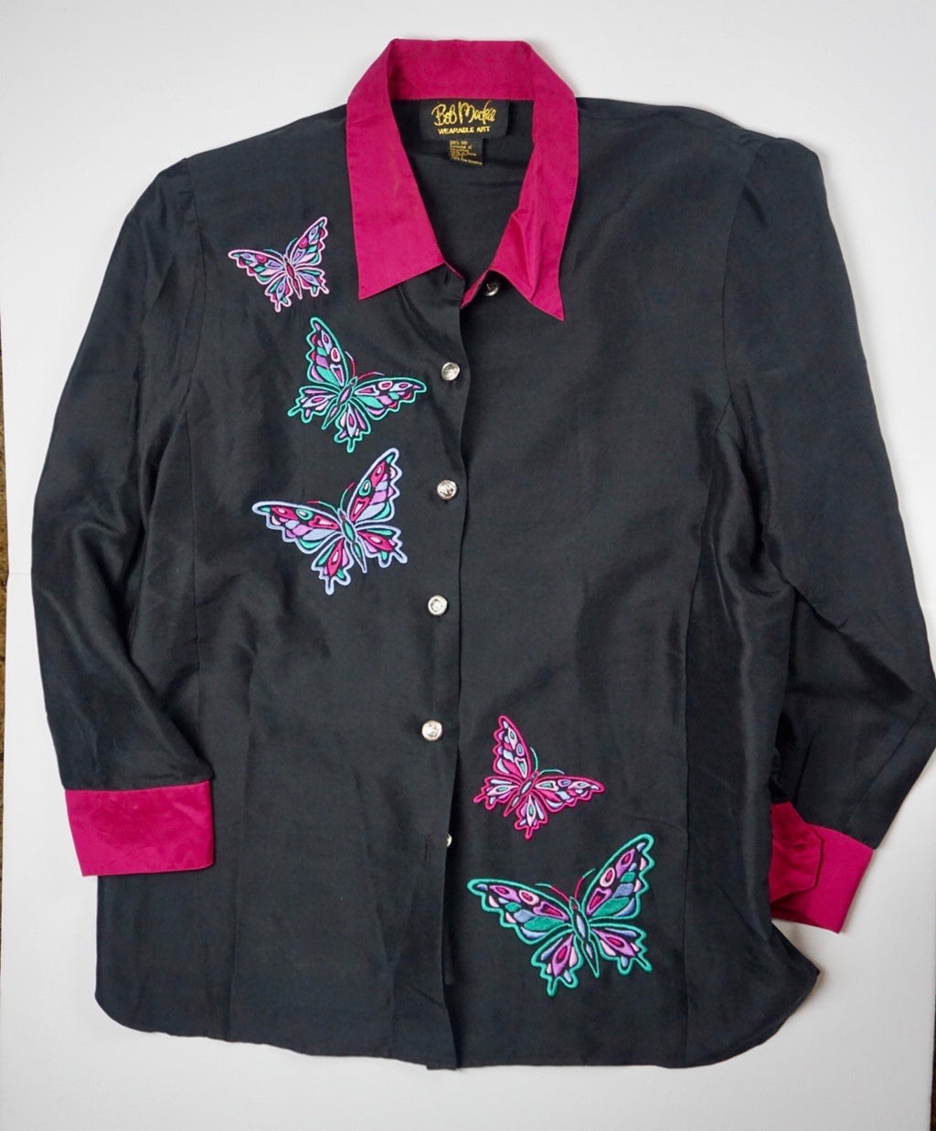 BOB MACKIE 'WEARABLE ART' BUTTERFLY BLOUSE