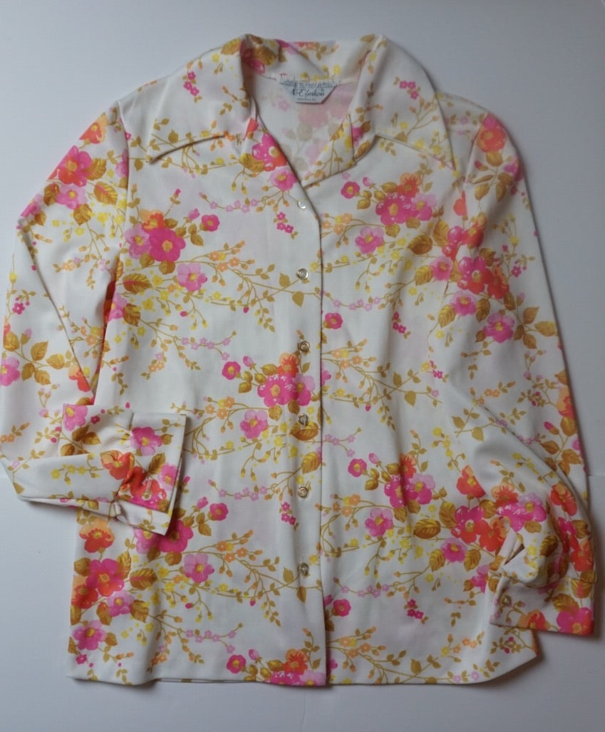 PINK + YELLOW FLORAL BLOUSE