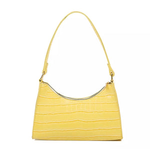 YELLOW CROC SHOULDER BAG