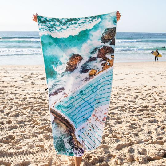 Beach Towel - Icebergs Summer