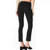 Jacqueline Straight Jeans - Black Shadow Raw Hem