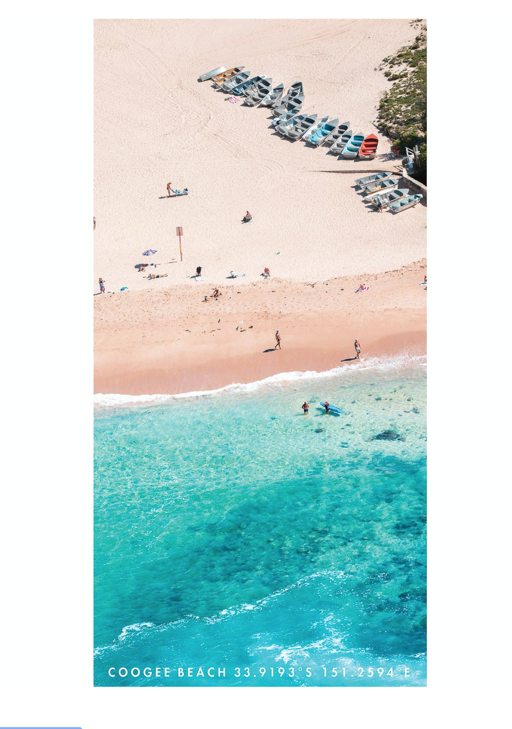 Beach Towel - Coogee Boats