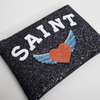 Saint Glitter Clutch Bag