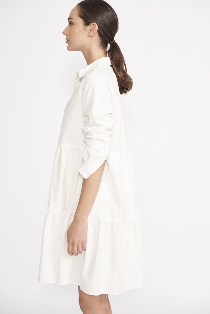 Tiers of Cord Dress - Winter White