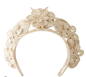 Polka Co Natural Bouquet Headpiece