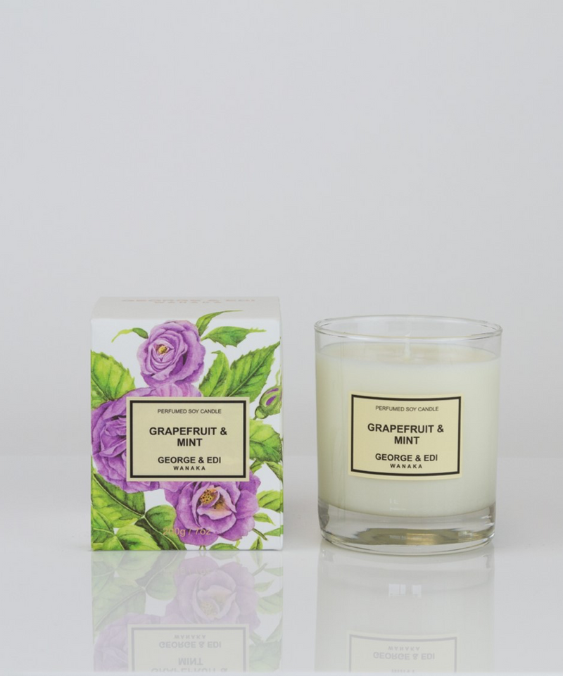 GEORGE & EDI Grapefruit & Mint Soy Candle